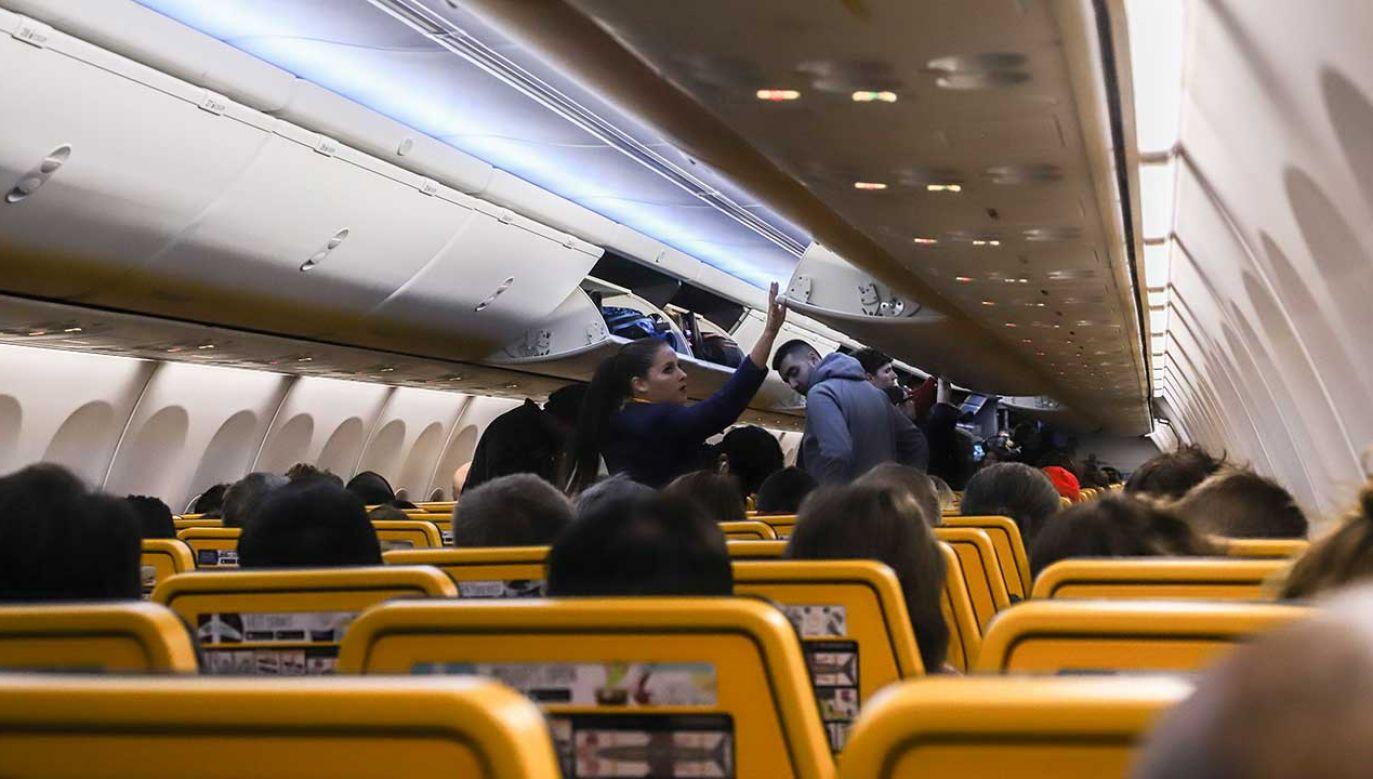 W samolocie na pasażerów mogą czekać niemiłe niespodzianki (fot. Nicolas Economou/SOPA Images/LightRocket/Getty Images)