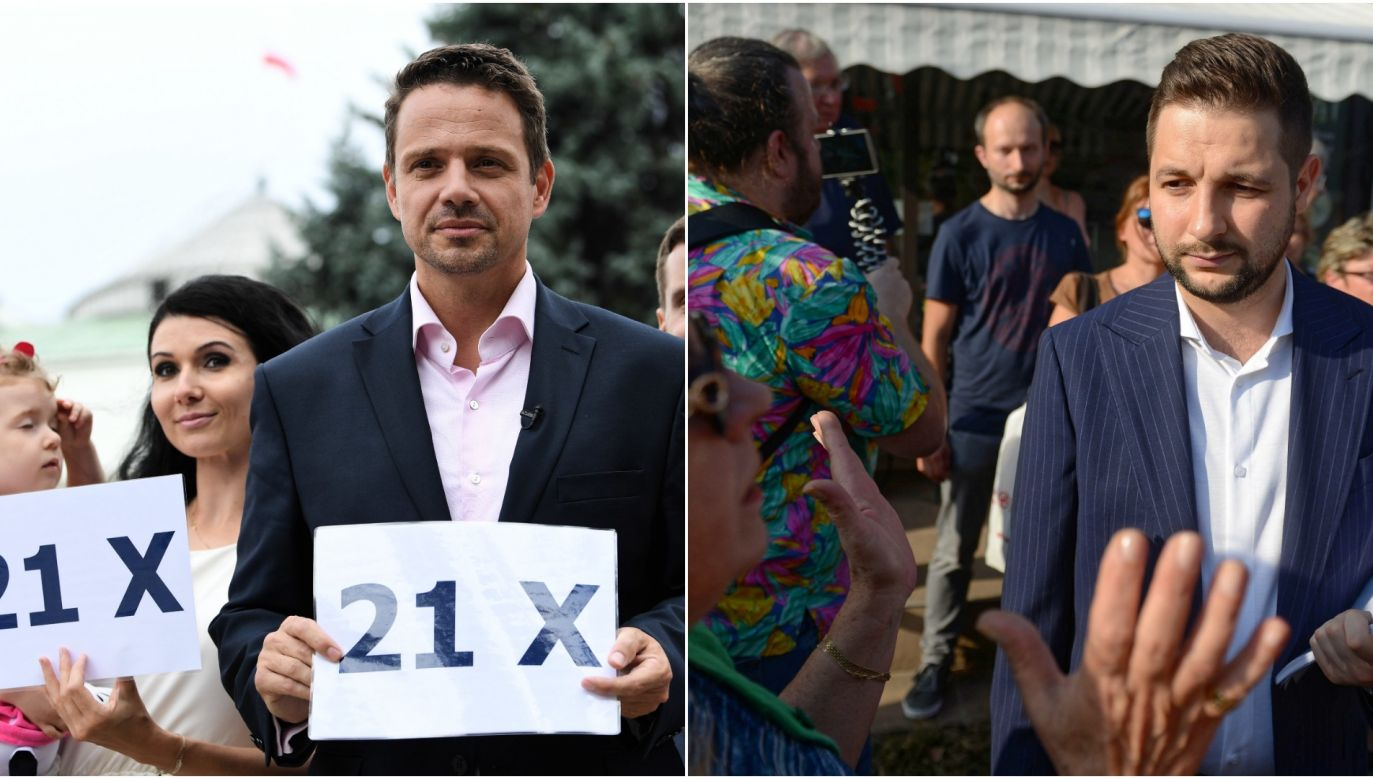 Mayoral candidates Rafał Trzaskowski (L) and Patryk Jaki (R) gear up for the campaign. Photo: PAP/Bartłomiej Zborowski // PAP/Jakub Kamiński