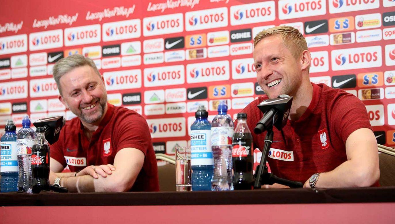 Jerzy Brzęczek i Kamil Glik (fot. PAP/Leszek Szymański)