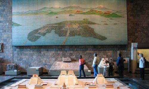 Makieta Tenochtitlánu w Narodowym Muzeum Antropologicznym w Meksyku. Fot. Wikimedia/  Luidger