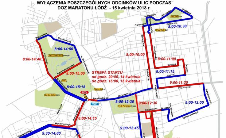 Utrudnienia w czasie DOZ Maraton Łódź 2018 / fot. UMŁ