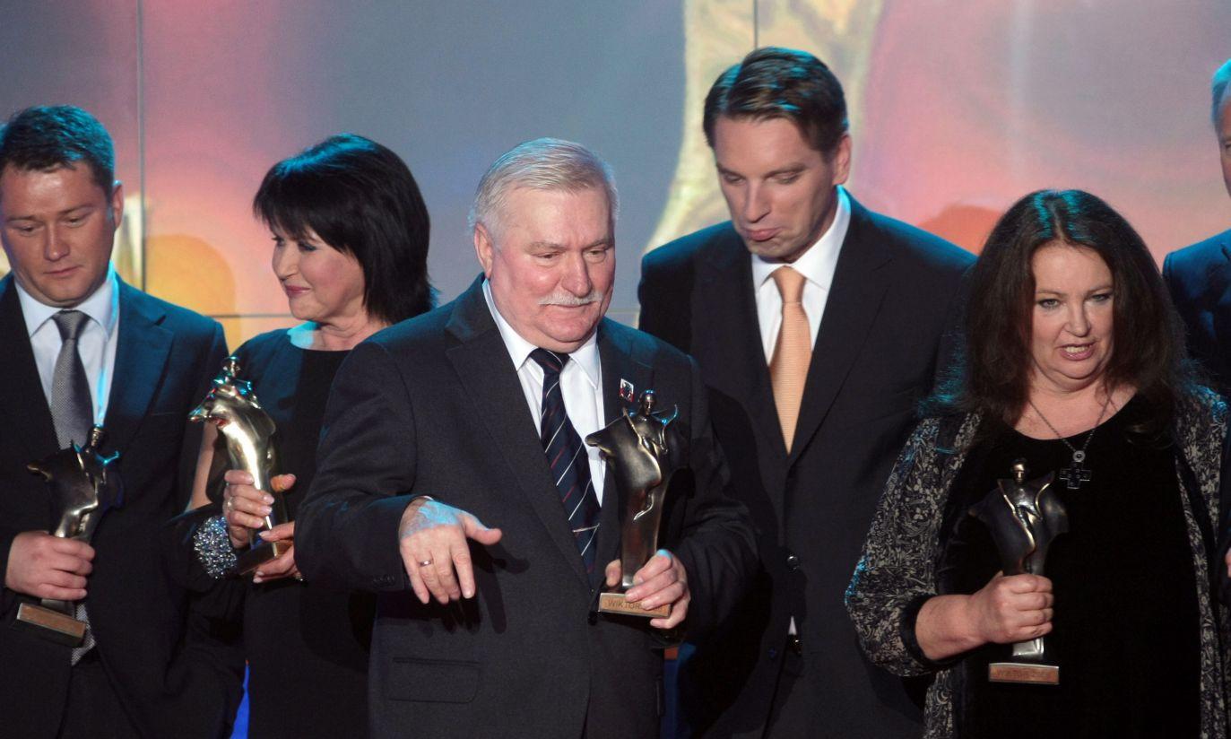 Laureaci Wiktorów 2008 (fot.PAP/Leszek Szymański)