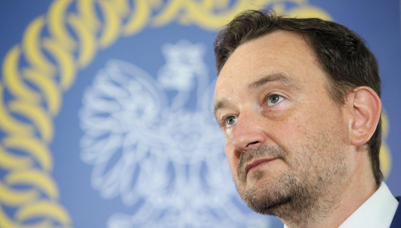 The spokesman of Polihs National Judicary Council (KRS) Maciej Mitera. Photo: PAP/Leszek Szymański