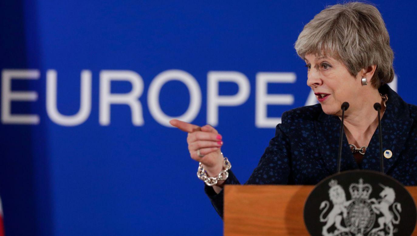 Premier Theresa May nie wyklucza rezygnacji z ponownego głosowania w Izbie Gmin ws. brexitu (fot. PAP/EPA/STEPHANIE LECOCQ)
