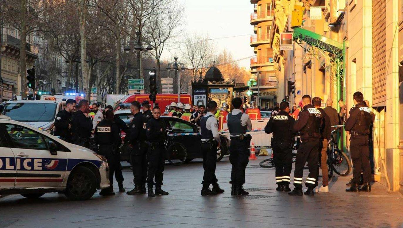 Do ataku doszlo na La Canebière, głównej ulicy historycznej części Marsylii (fot. TT/Sarwar)
