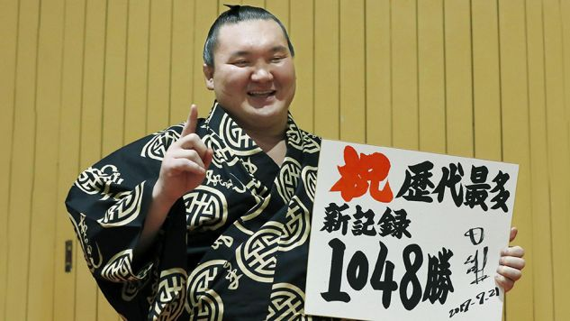 Hakuho zapisał się w historii (fot. Kyodo/via REUTERS)