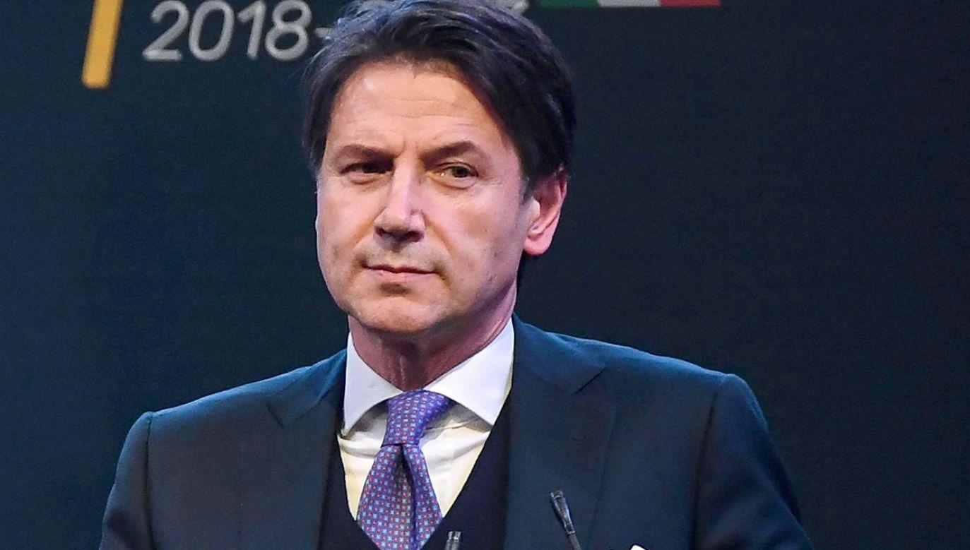 Kandydat na premiera Giuseppe Conte (fot. PAP/EPA)