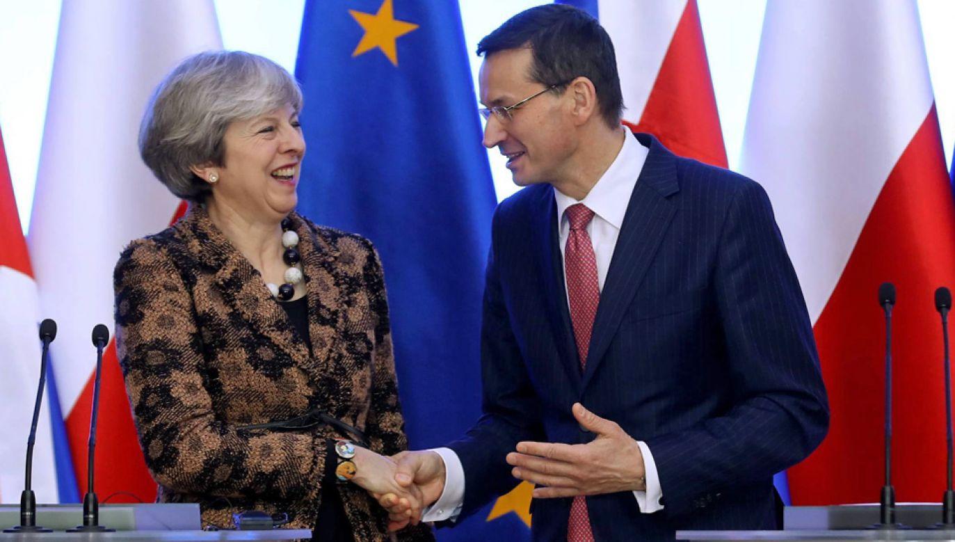 Premierzy Theresa May i Mateusz Morawiecki (fot. arch.PAP/Rafał Guz)