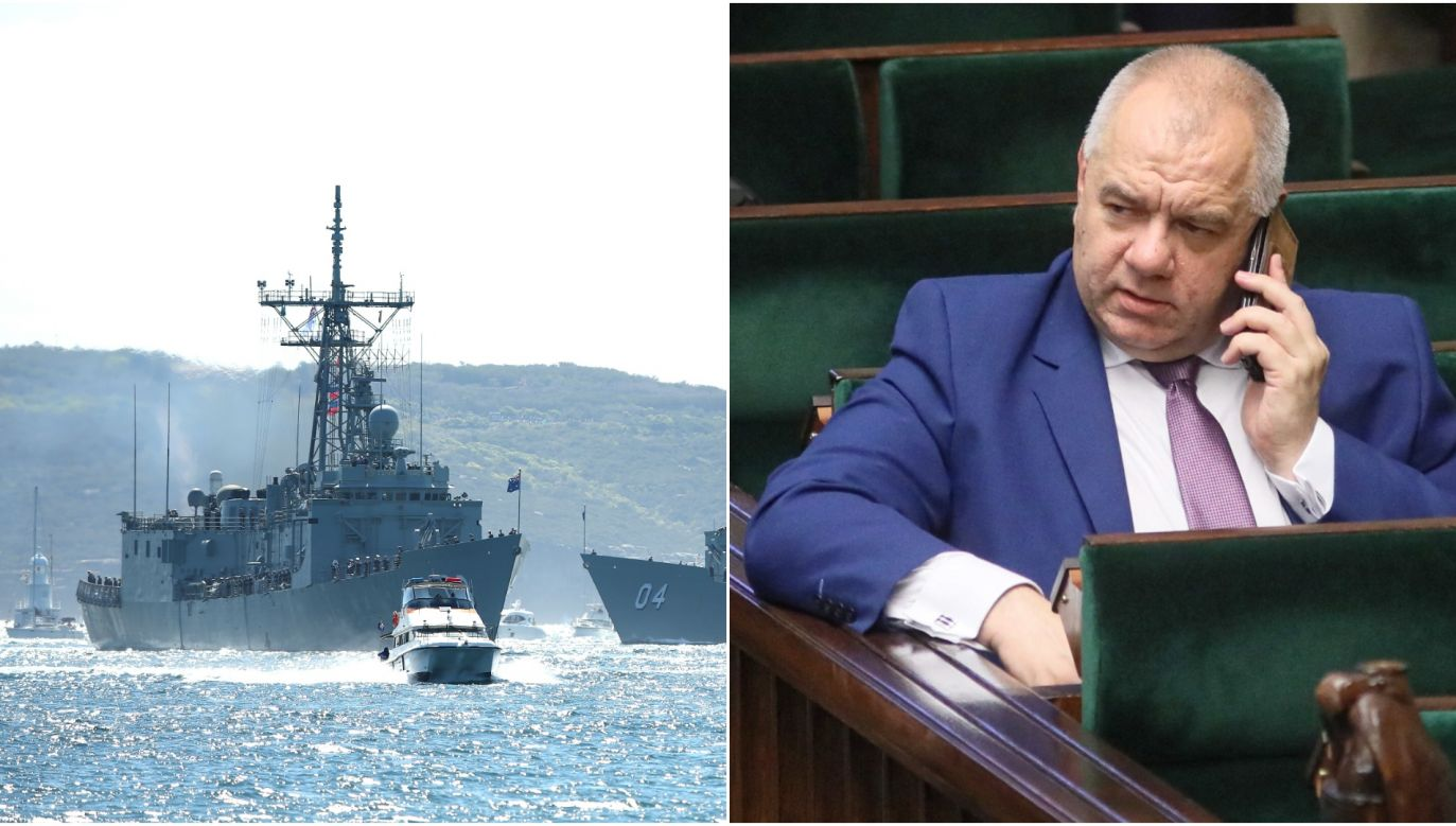 PM's top aide (R) said the Defense Ministry was still considering the possible warship deal. Photo: Cameron Spencer/Getty Images // PAP/Leszek Szymański
