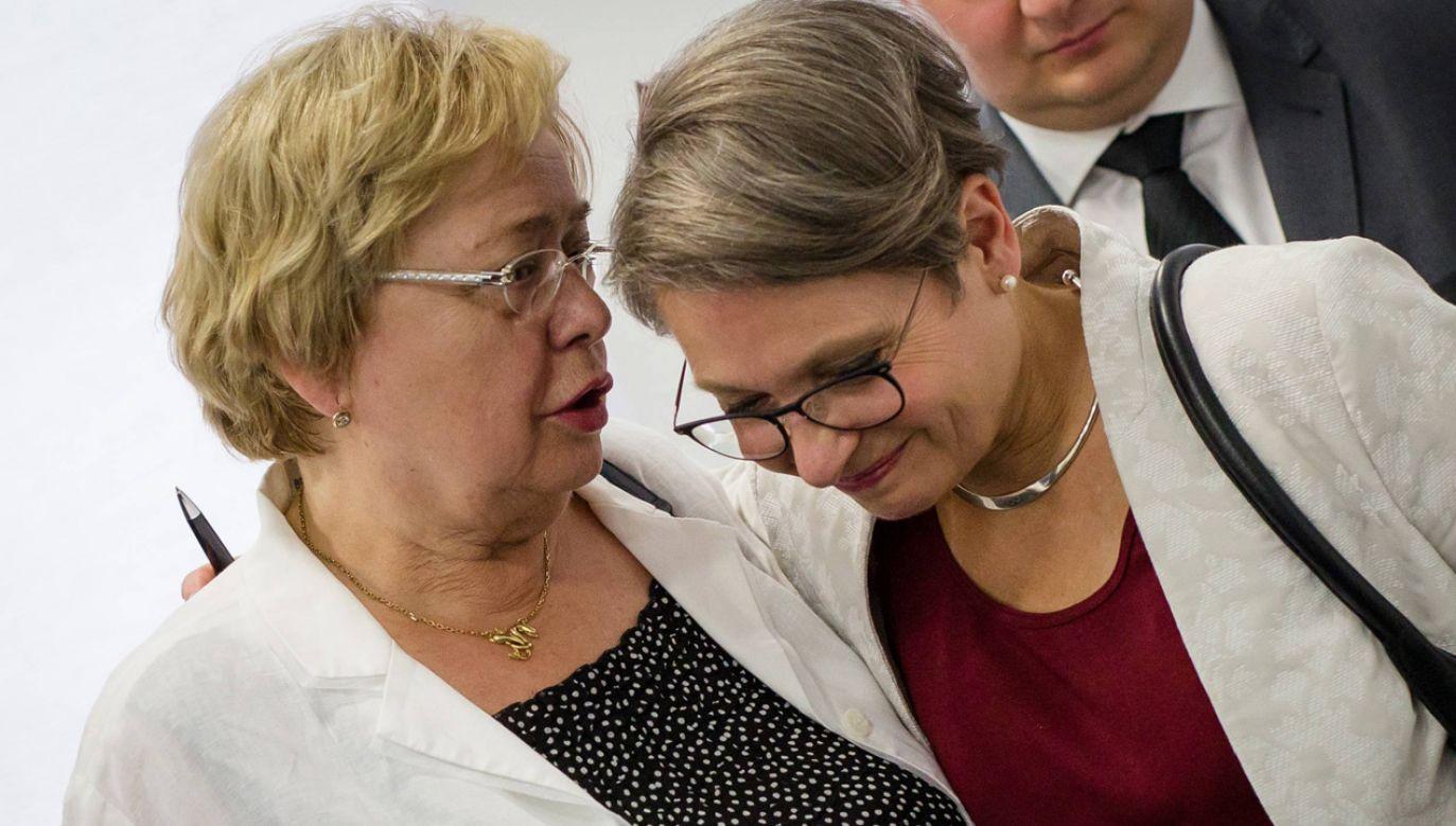 Małgorzata Gersdorf i  Bettina Limperg (fot. PAP/DPA Christoph Schmidt)