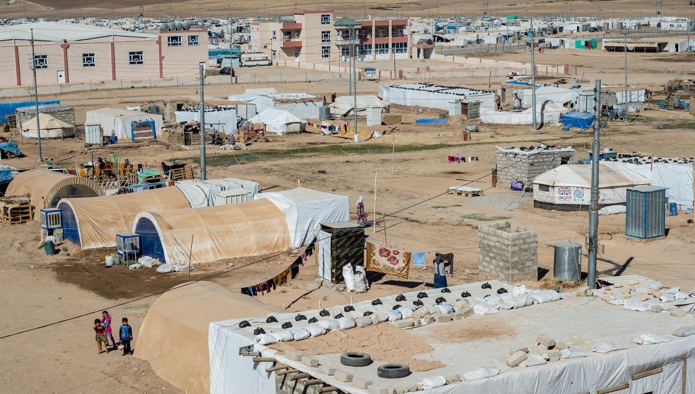 Yazidis' camp in Khenke. Photo: Alessandro Rota/Getty Images