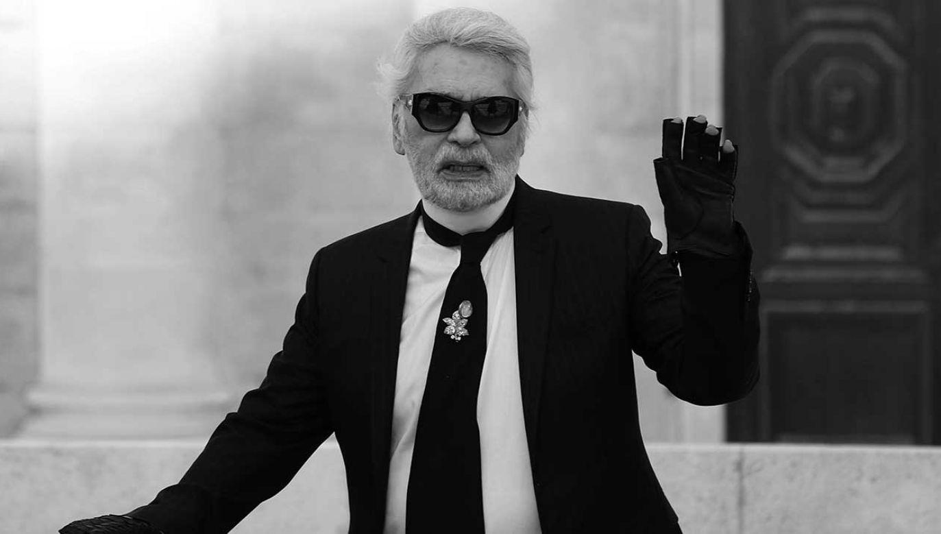 Karl Lagerfeld zmarł w wieku 85 lat (fot. PAP/EPA/IAN LANGSDON)