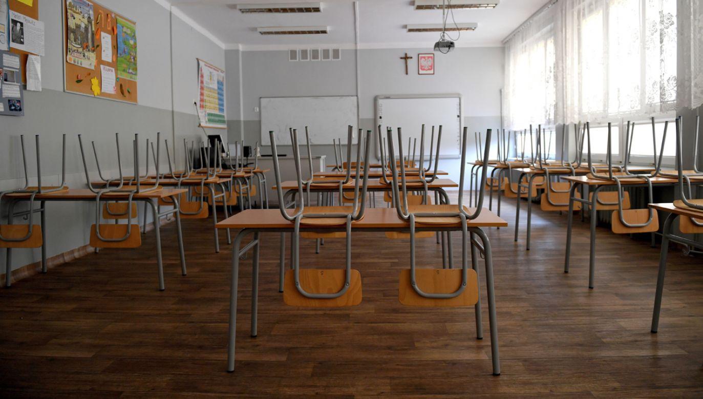 Od 8 kwietnia w wielu polskich szkołach prowadzony jest strajk zorganizowany przez Związek Nauczycielstwa Polskiego i Forum Związków Zawodowych (fot. arch. PAP/Darek Delmanowicz)