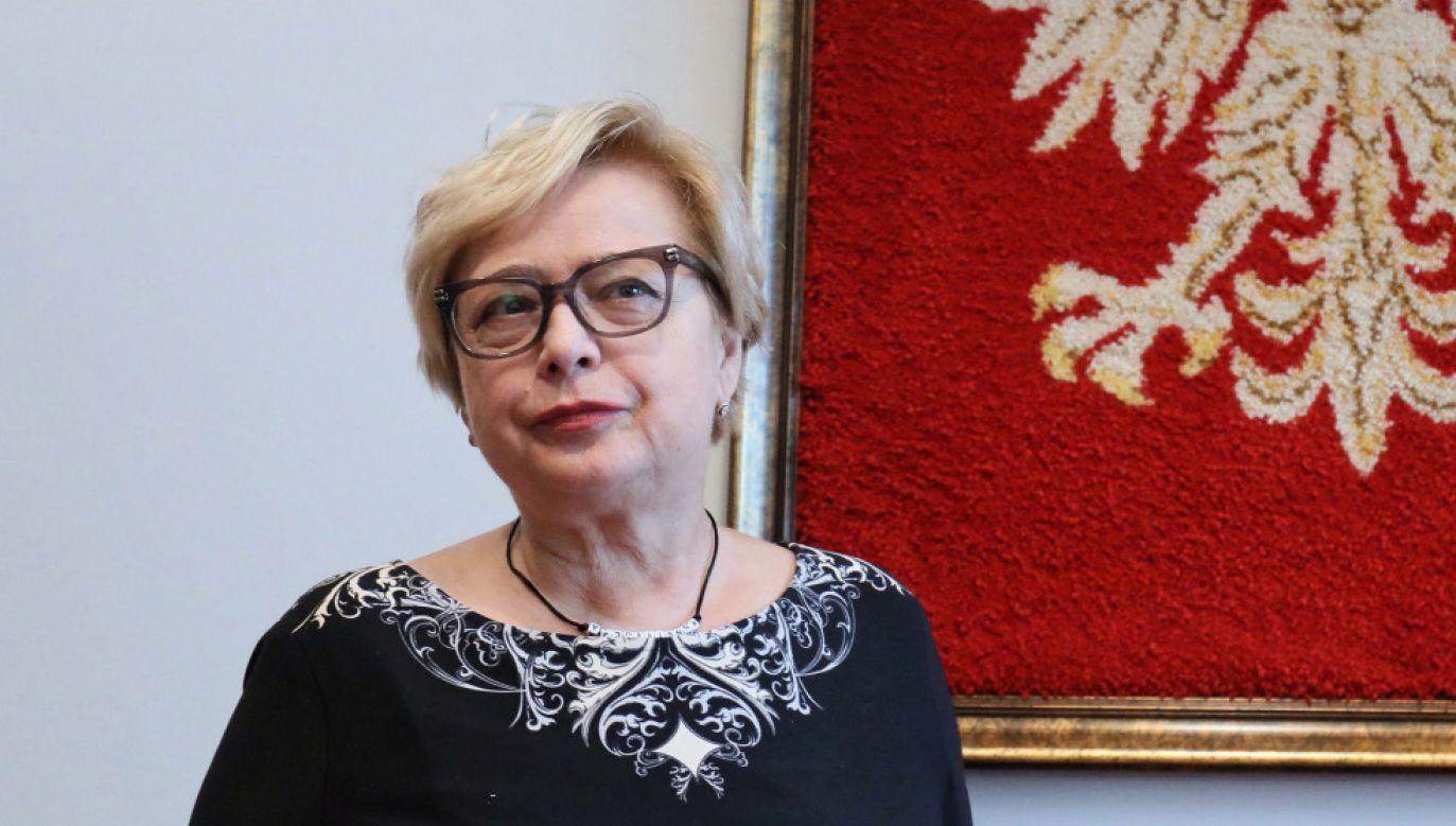 Prezes Sądu Najwyższego Małgorzata Gersdorf po konferencji prasowej w SN (fot. PAP/Paweł Supernak)