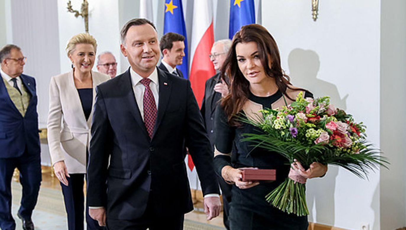 Agnieszka Radwańska ogłosiła zakończenie kariery tenisowej w listopadzie 2018 r. (fot. KPRP/Jakub Szymczuk)