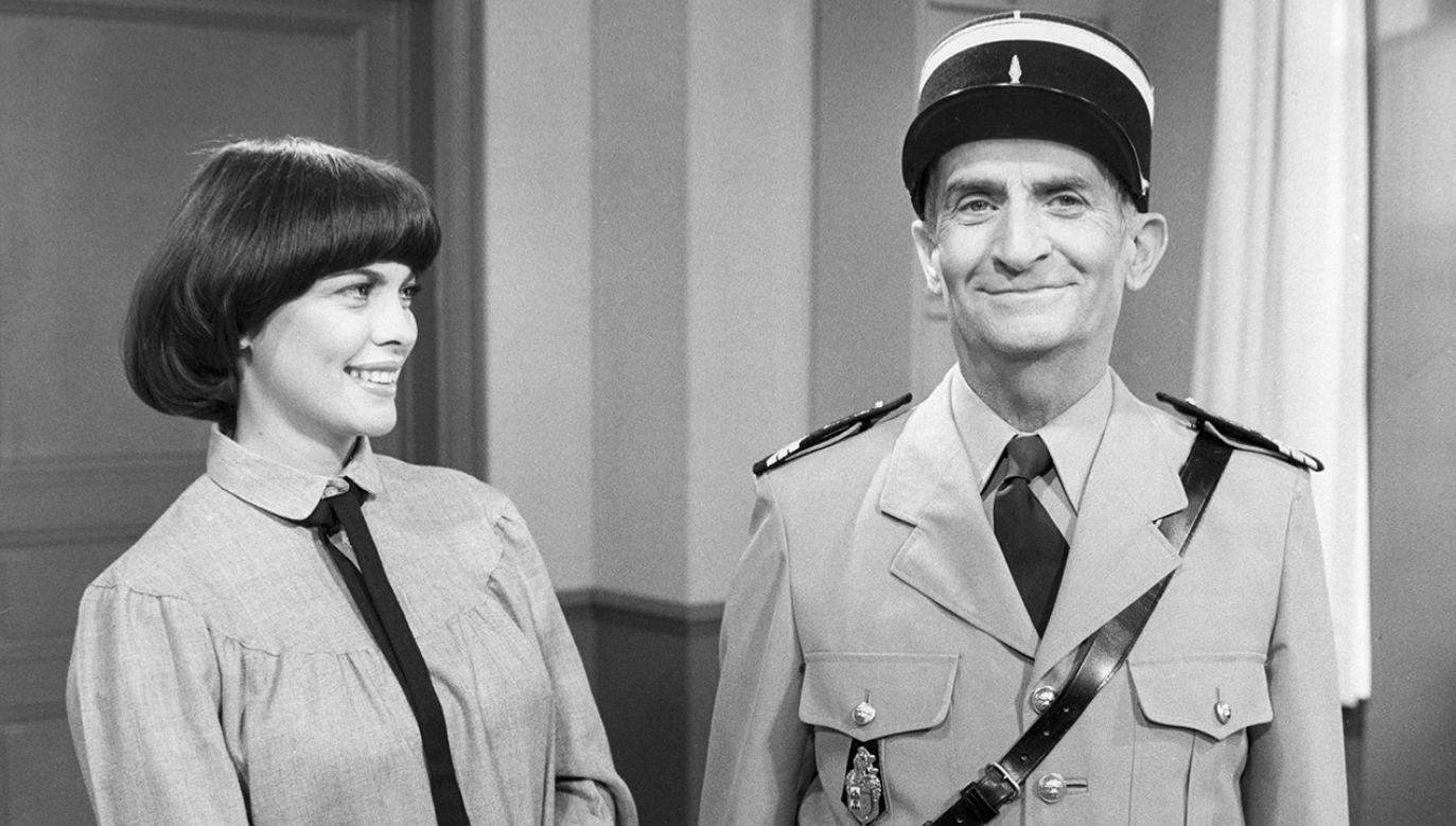 Kadr francuskiej komedii Żandarm na emeryturze, gdzie w głównej roli wystąpił Louis de Funès (fot. PAT/Gamma-Rapho via Getty Images)