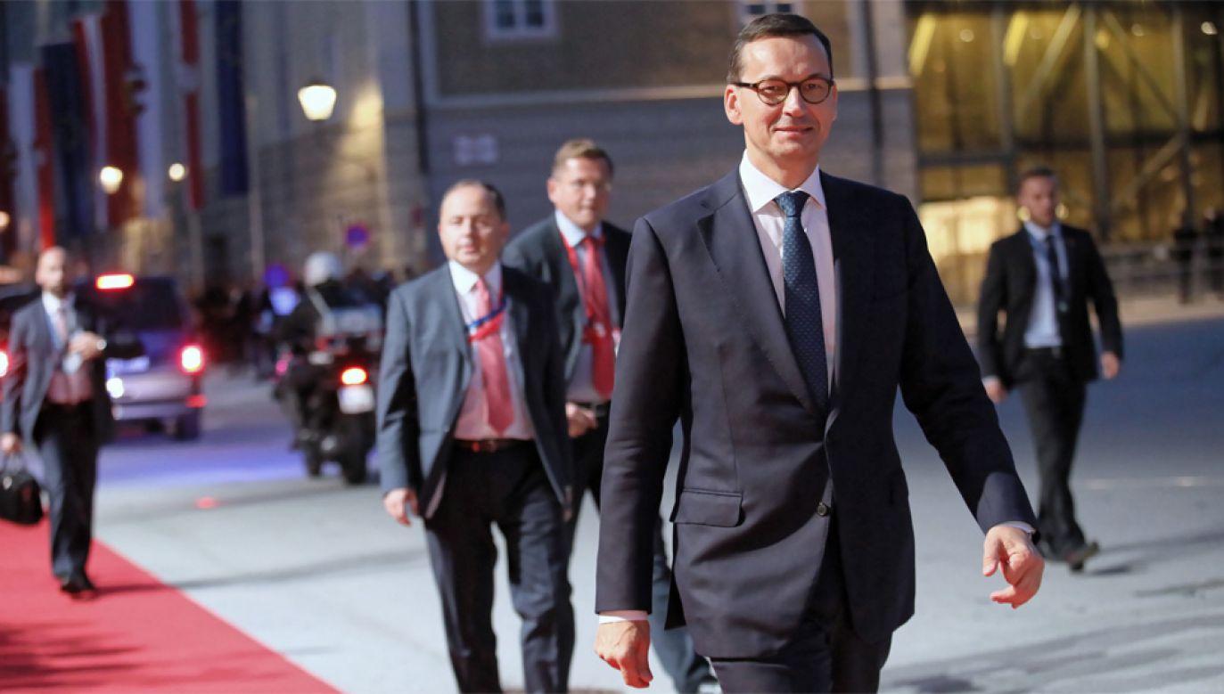 Premier Mateusz Morawiecki przebywa na nieformalnym szczycie UE w Salzburgu (fot. PAP/Leszek Szymański)