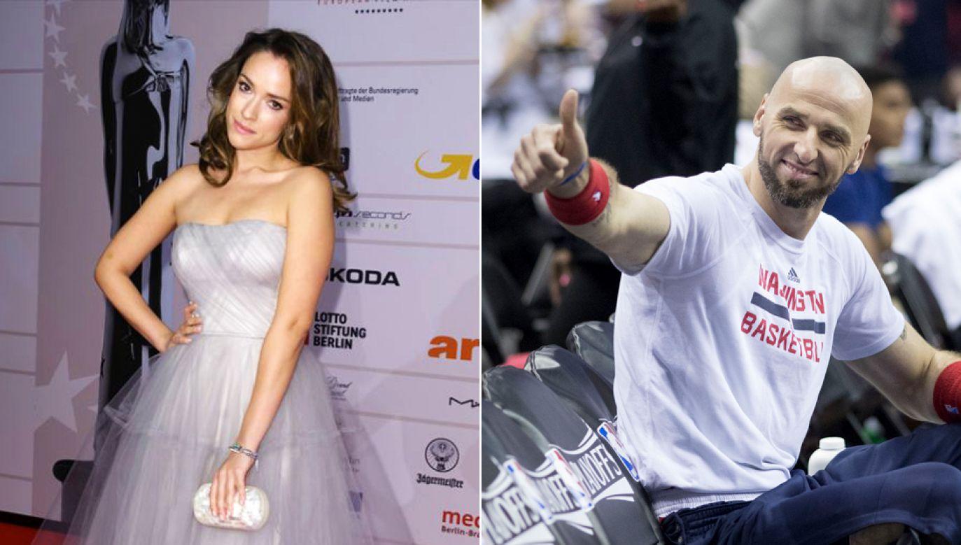 Od nowego sezonu Marcin Gortat (P) będzie grał w Los Angeles Clippers, bliżej swojej ukochanej Alicji Bachledy-Curuś (L)(fot. Clemens Bilan/Getty Images / Flickr.com/ Keith Allison))