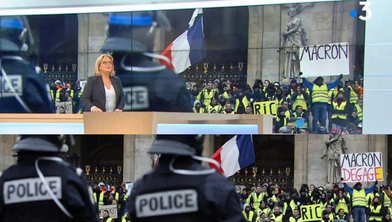 """Telewizja twierdzi, że doszło """"ludzkiej pomyłki"""" (fot. TT/Brevesdepresse)"""