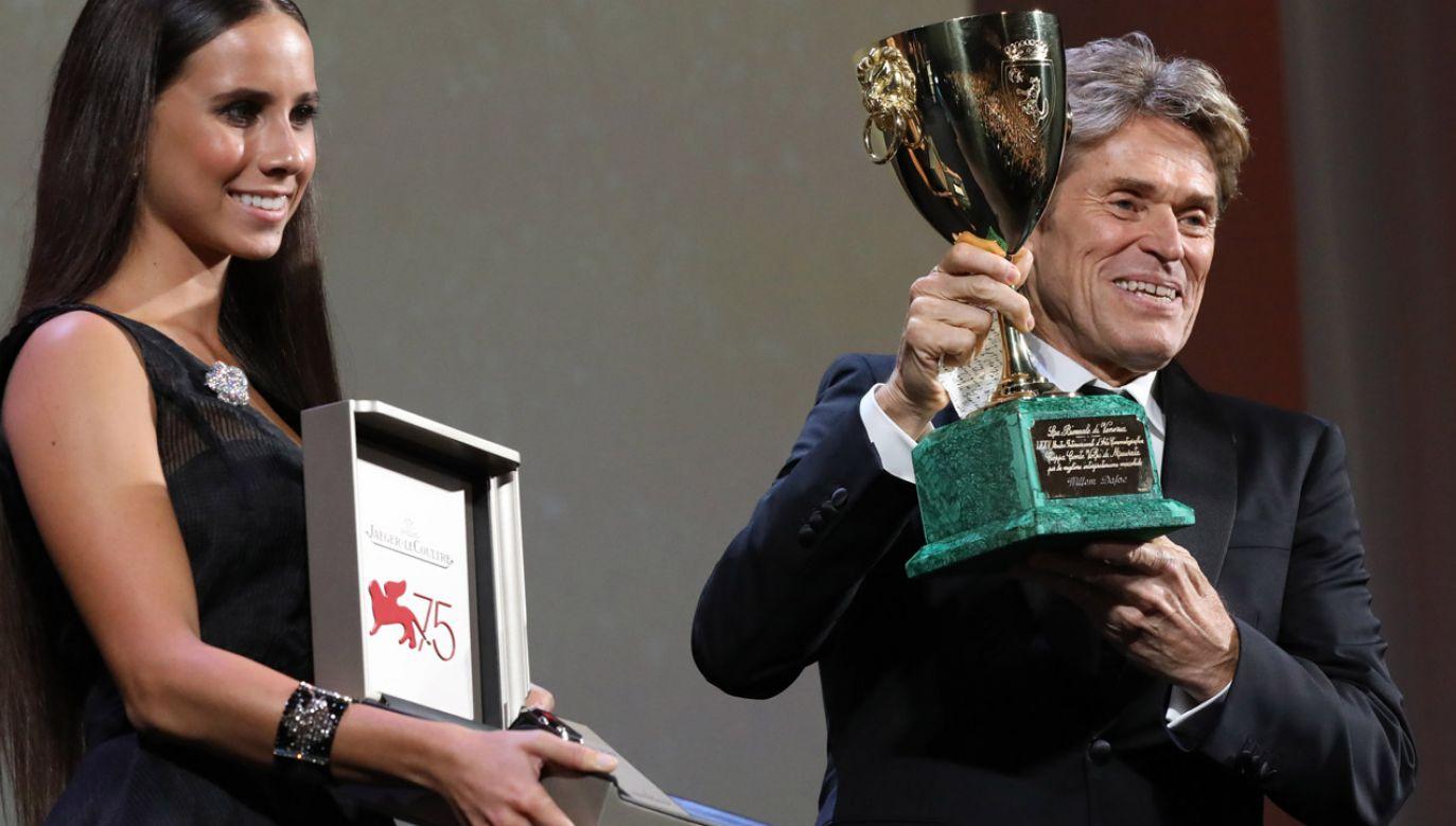 Nagrodę dla najlepszego aktora odebrał Willem Dafoe (fot. Tristan Fewings/Getty Images for Jaeger-LeCoultre)