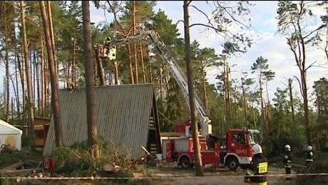 Zniszczenia po kataklizmie w Sulęczynie