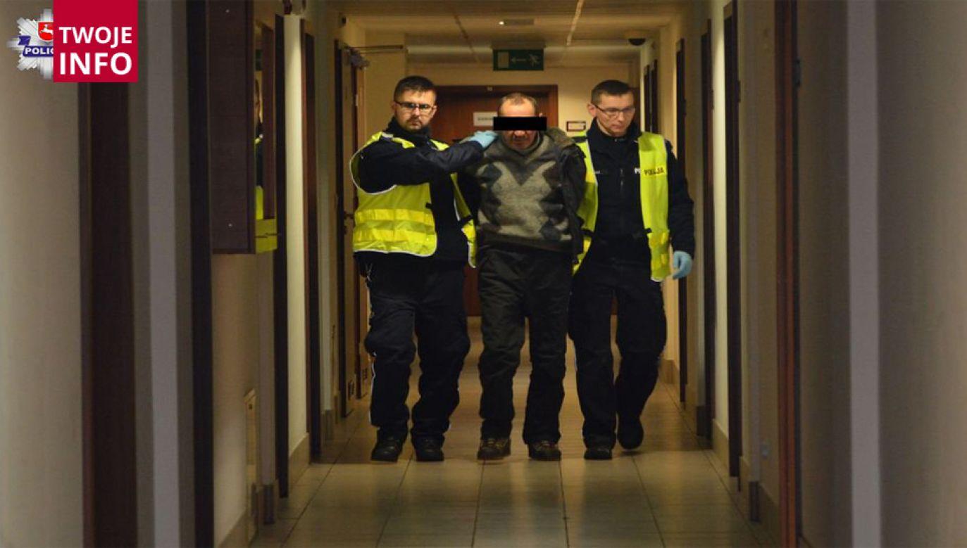 Napastnik miał we krwi 1,5 promila alkoholu, trafił do aresztu (fot. policja.gov.pl)