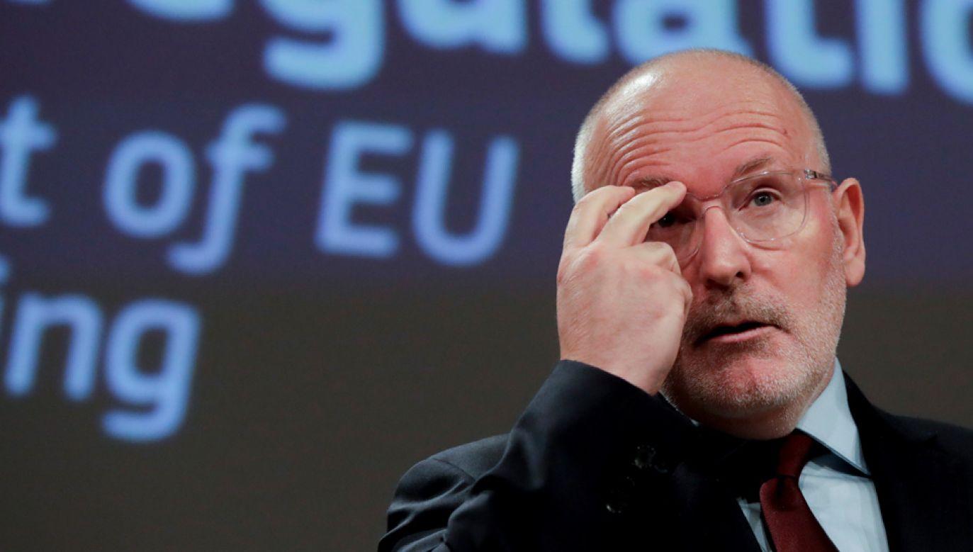 Frans Timmermans jest kandydatem socjalistów na szefa Komisji Europejskiej (fot. PAP/EPA/OLIVIER HOSLET)