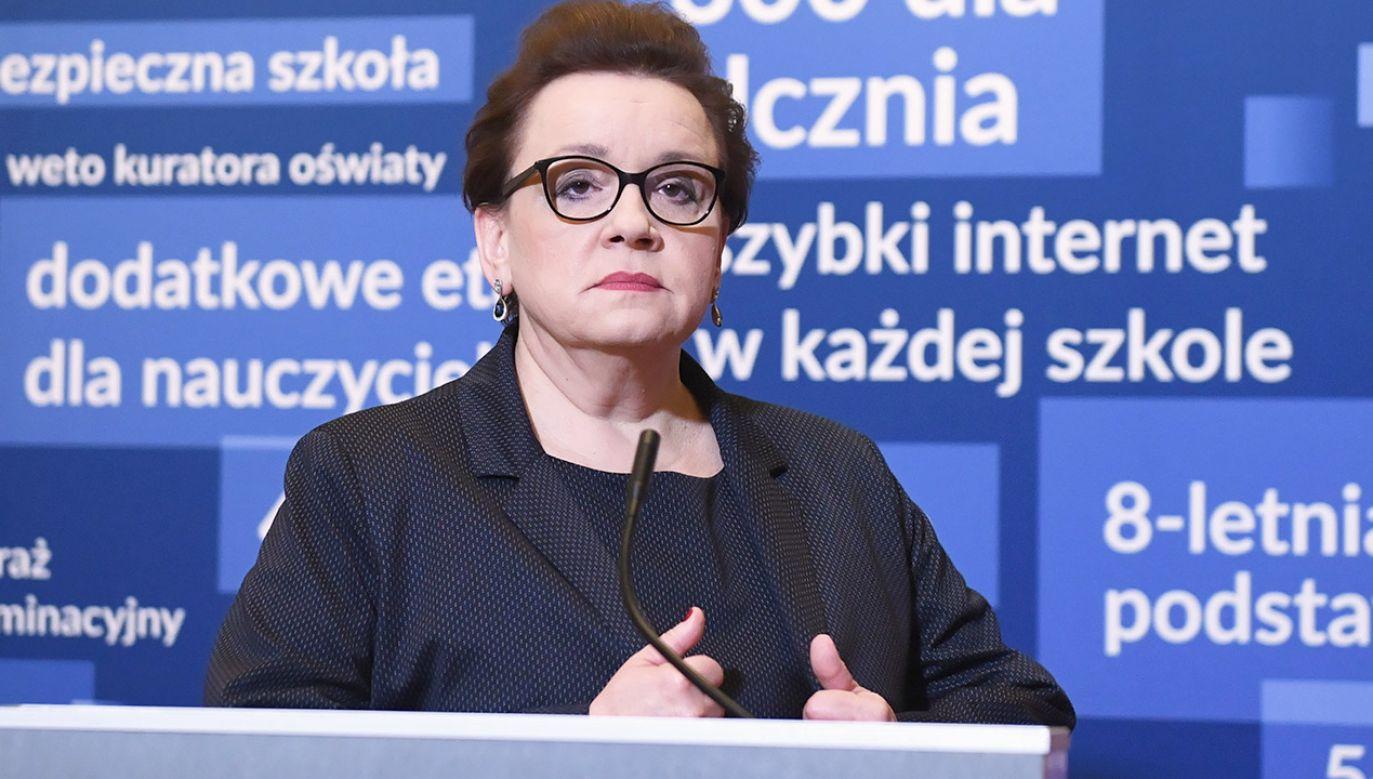 Szefowa MEN o możliwym strajku nauczycieli i widmie paraliżu szkolnych egzaminów (fot. PAP/Radek Pietruszka)