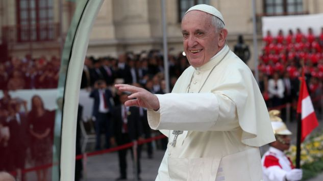 Papiez Franciszek w Peru (fot. PAP/EPA/ERNESTO ARIAS)