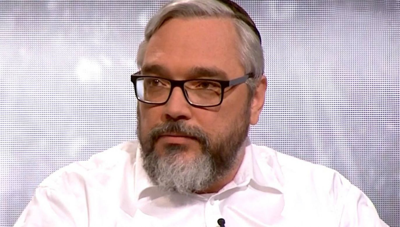 Eli Zolkos z Jewish Defence League Poland. Fot. archiwum TVP