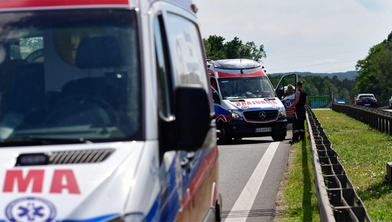 Na szczęście życi rannych nic nie zagraża (fot. PAP/Marcin Bielecki)