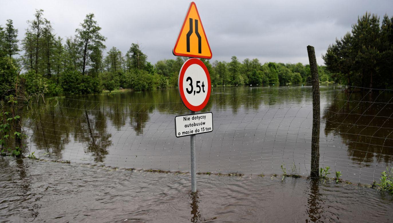 Od wtorku liczba interwencji związanych z burzami, opadami i wiatrem wyniosła ponad 8 tys. (fot. PAP/Darek Delmanowicz)