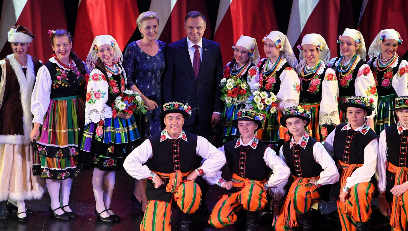 Polish President Andrzej Duda met members of the Polish minority in Latvia in June. Photo: PAP/Radek Pietruszka