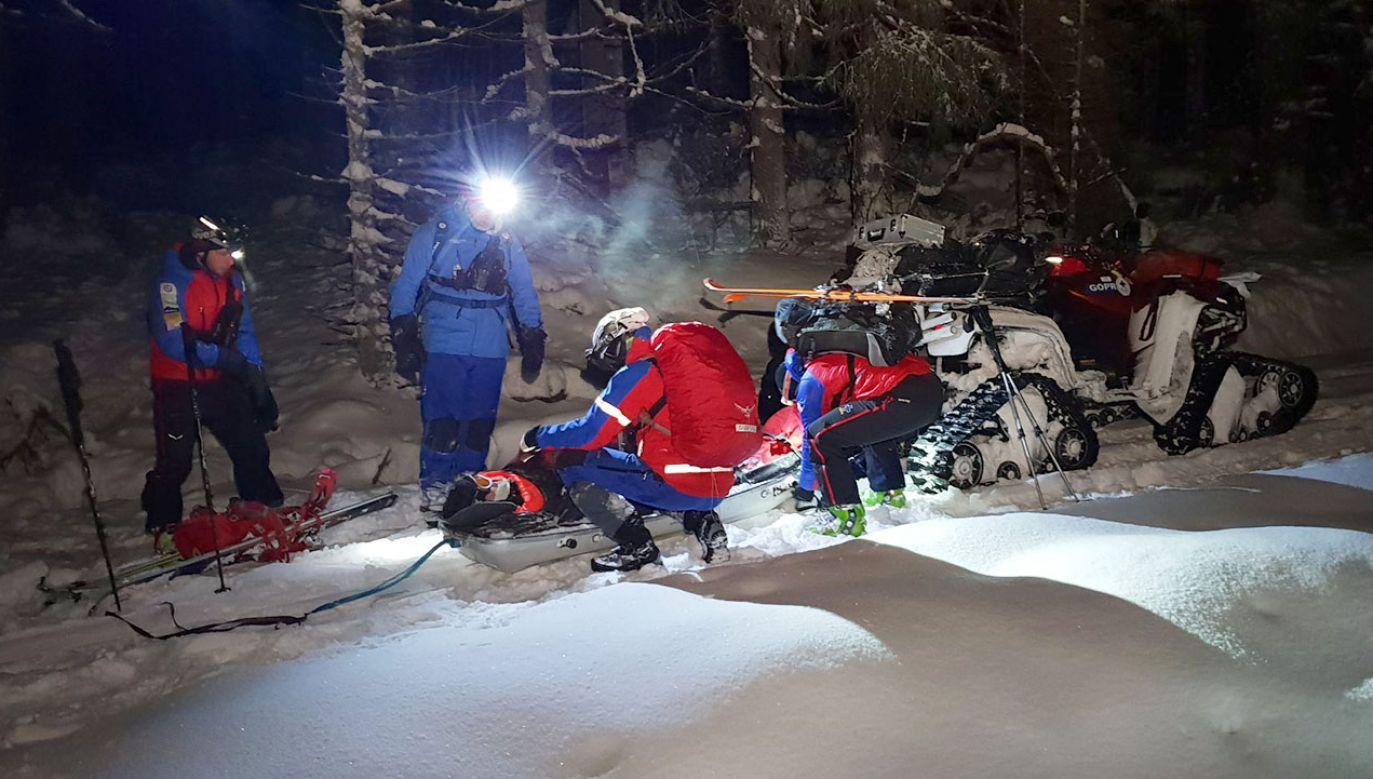 W rejon wysłano trzy zespoły ratowników, którzy quadami, pieszo i na nartach skiturowych ruszyli na poszukiwania (fot. FB/Grupa Wałbrzysko-Kłodzka GOPR)