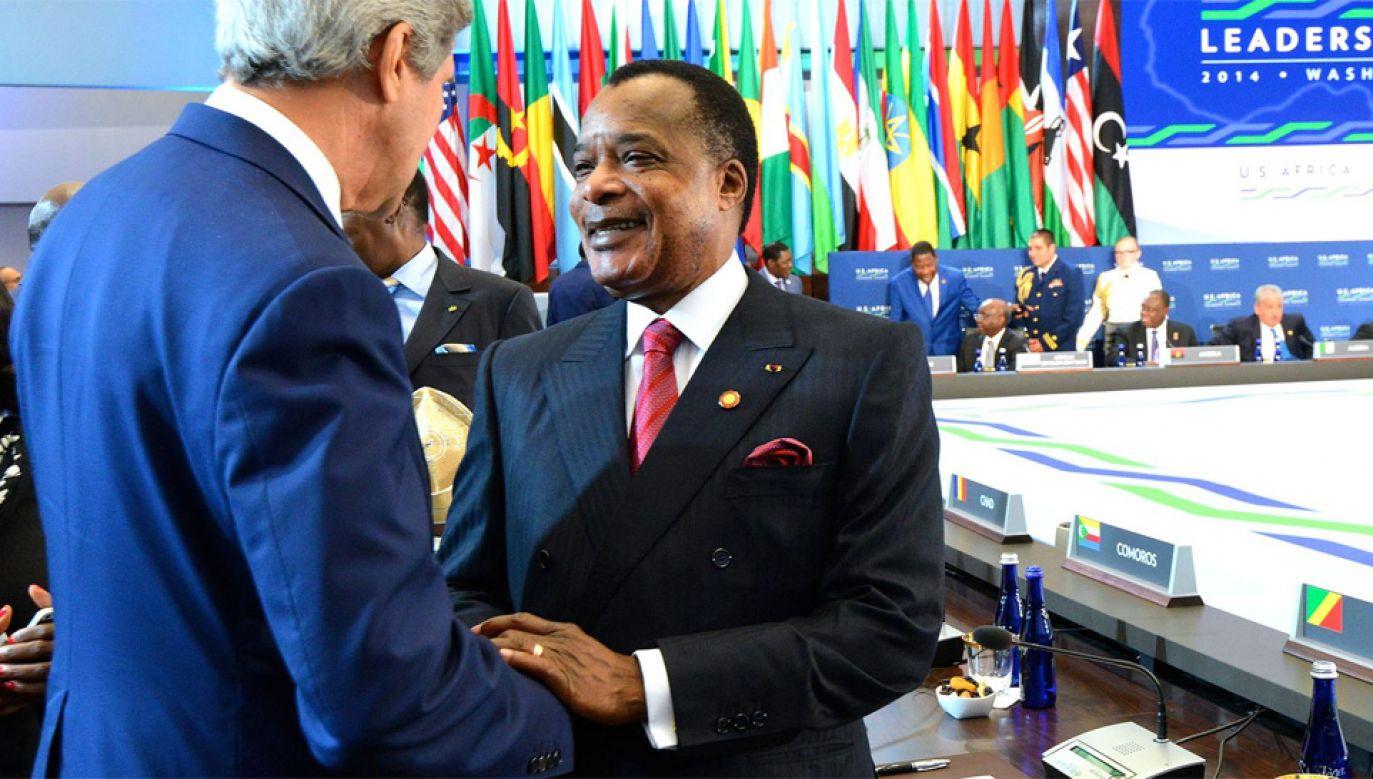 Prezydent Denis Sassou-Nguesso rządzi z przerwą od 1979 roku (fot. U.S. Department of State)