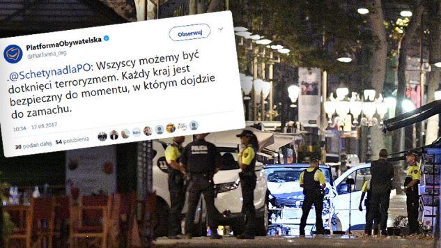 Przewodniczący PO Grzegorz Schetyna za pomocą platformy Twitter wyraził swoja opinię o ataku (fot. tt/PlatformaObywatelska/David Ramos/Getty Images)