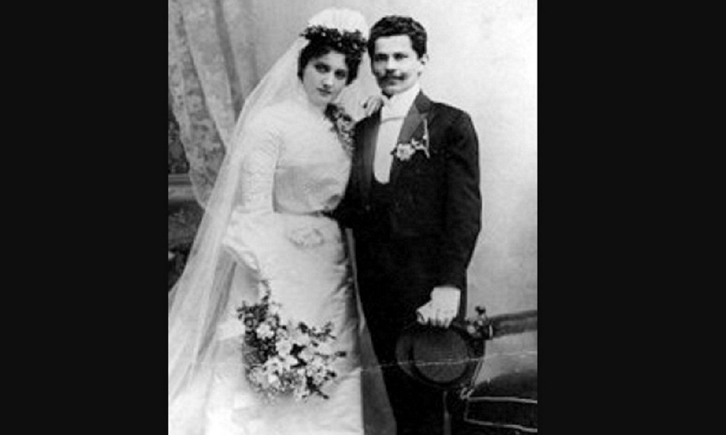 Jan Szczepanik z żoną. Fot. Wikimedia Commons/autor nieznany, http://www.tarnow.pl/szczepanik/zyciorys.php, Domena publiczna