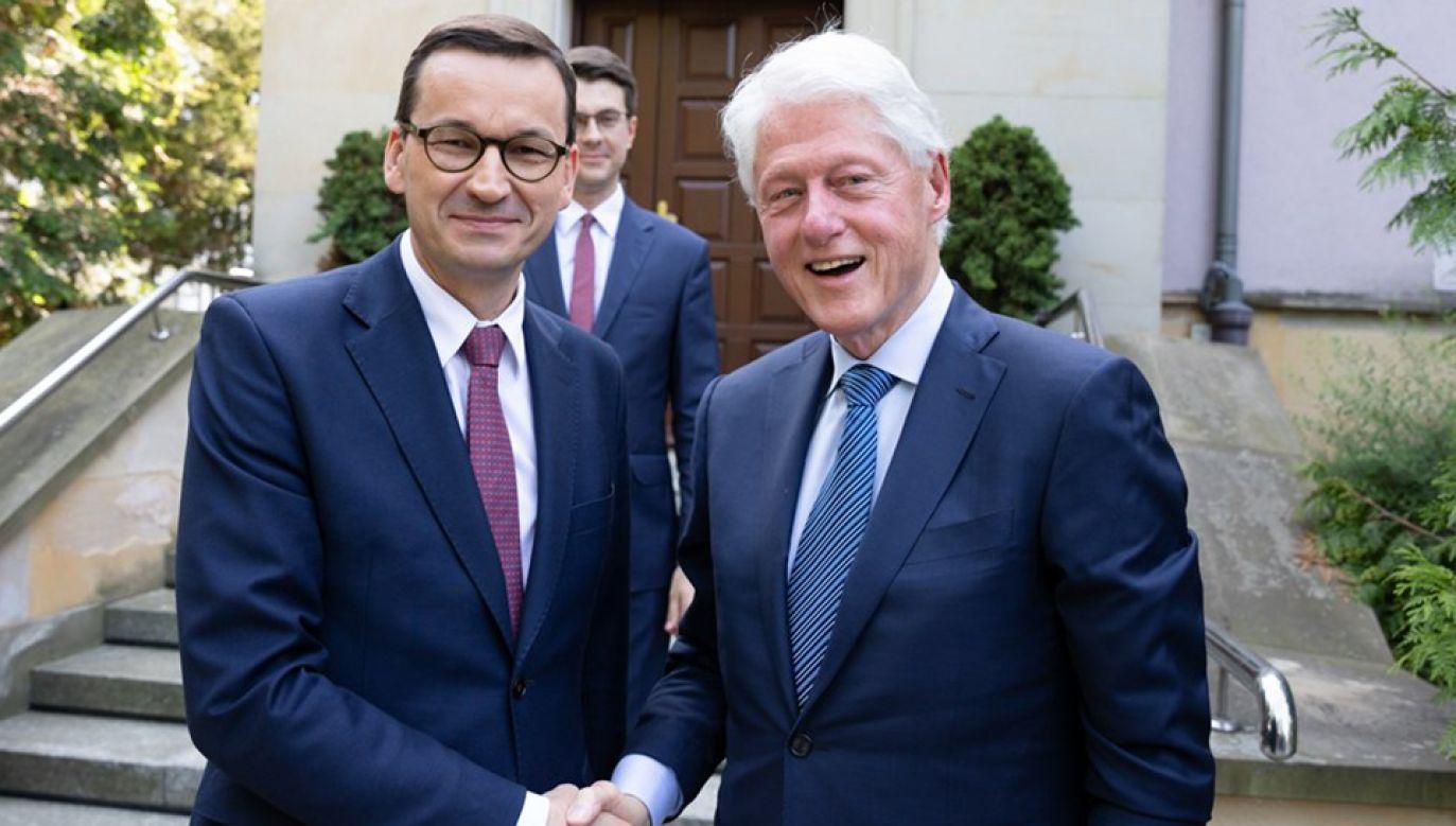 Bill Clinton został przyjęty przez premiera Mateusza Morawieckiego (fot. KPRM/Adam Guz)