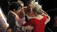 Aktorki Sally Hawkins, Saoirse Ronan, Margot Robbie i Meryl Streep (fot. REUTERS/Lucas Jackson)