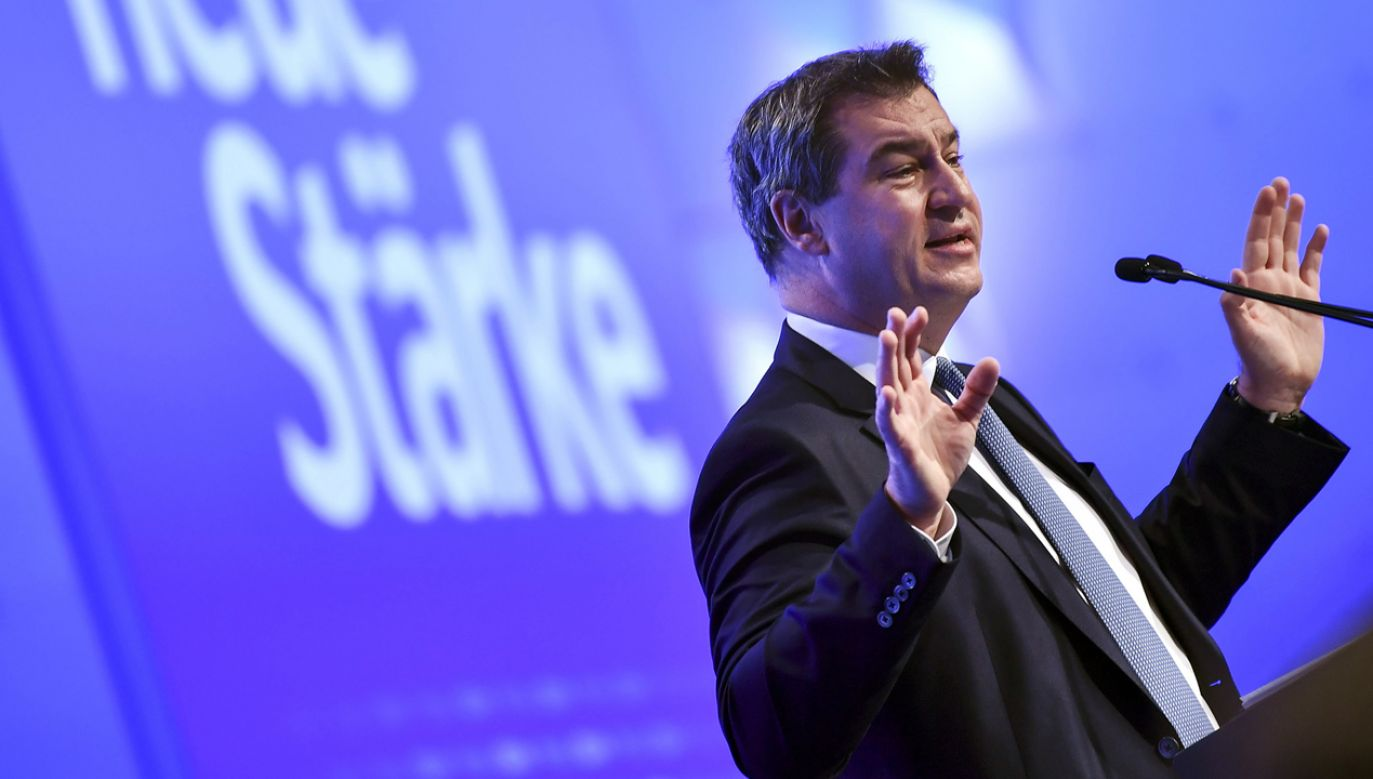Markus Söder przejął po po Horście Seehoferze dwa stanowiska: w marcu 2018 r. premiera Bawarii, a obecnie szefa CSU. (fot. PAP/EPA/PHILIPP GUELLAND)