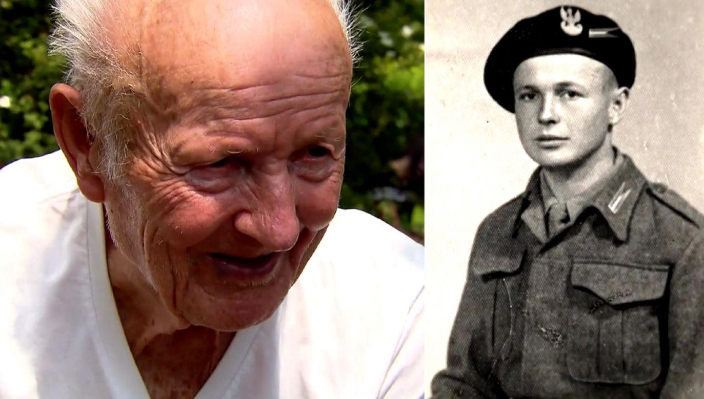 Marzeniem 94-letniego Józefa Kowalczyka był powrót do ojczyzny (fot. TVP1)