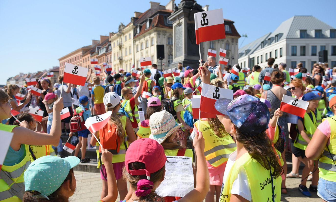 Dzieci biorące udział w programie