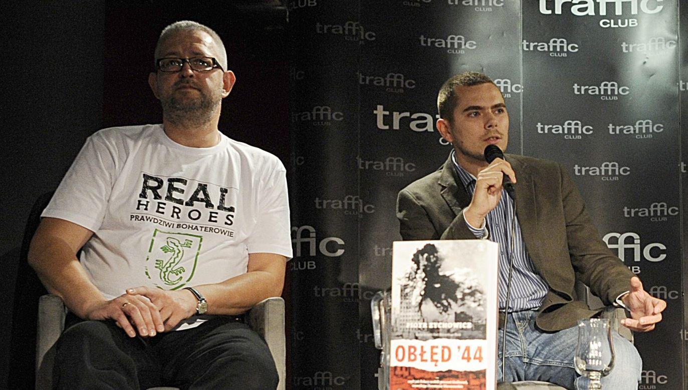 Rafał Ziemkiewicz i Piotr Zychowicz podczas promocji ksiązki