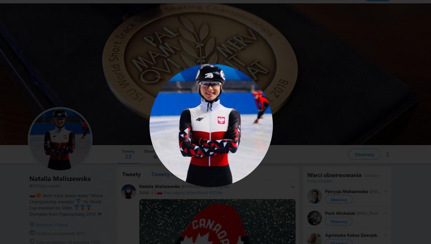 Natalia Maliszewska wygrała zawody PŚ w short tracku w  Calgary (fot. Twitter/NMaliszewska)