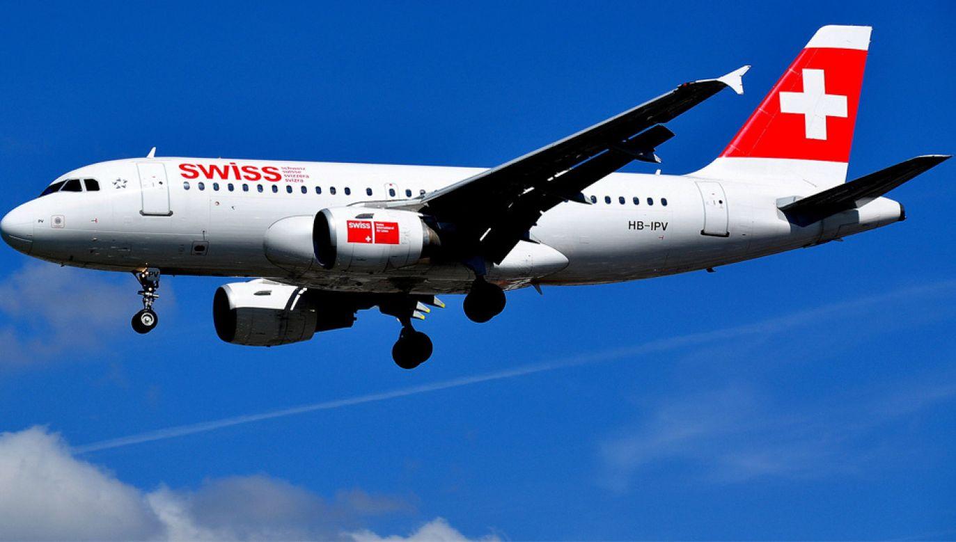 Airbus a319 linii Swiss International Air Lines znajdował się niecałe 9 km od lotniska (fot. Wiki/Beata May)