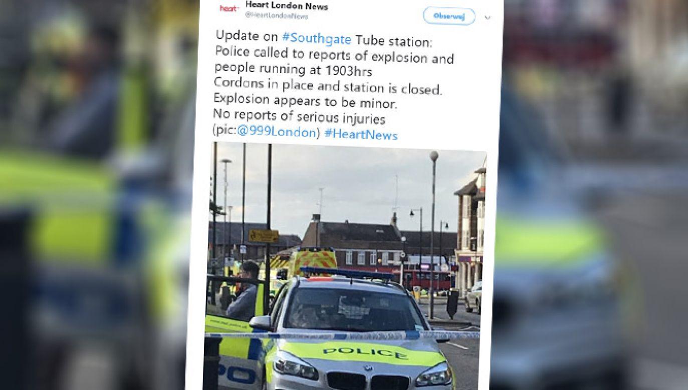 Eksplozja na stacji metra w Londynie (fot. tt/@HeartLondonNews)