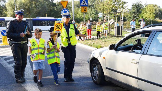 Policyjna akcja EDWARD 2018 (European Day Without A Road Death – Europejski Dzień Bez Ofiar Śmiertelnych Na Drogach) (fot. PAP/Marcin Bielecki)