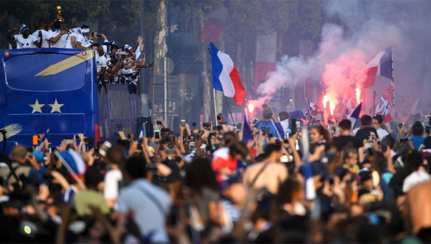 Francuzi zdobyli drugi w historii tytuł mistrzowski (fot. PAP/EPA/ERIC FEFERBERG / POOL)