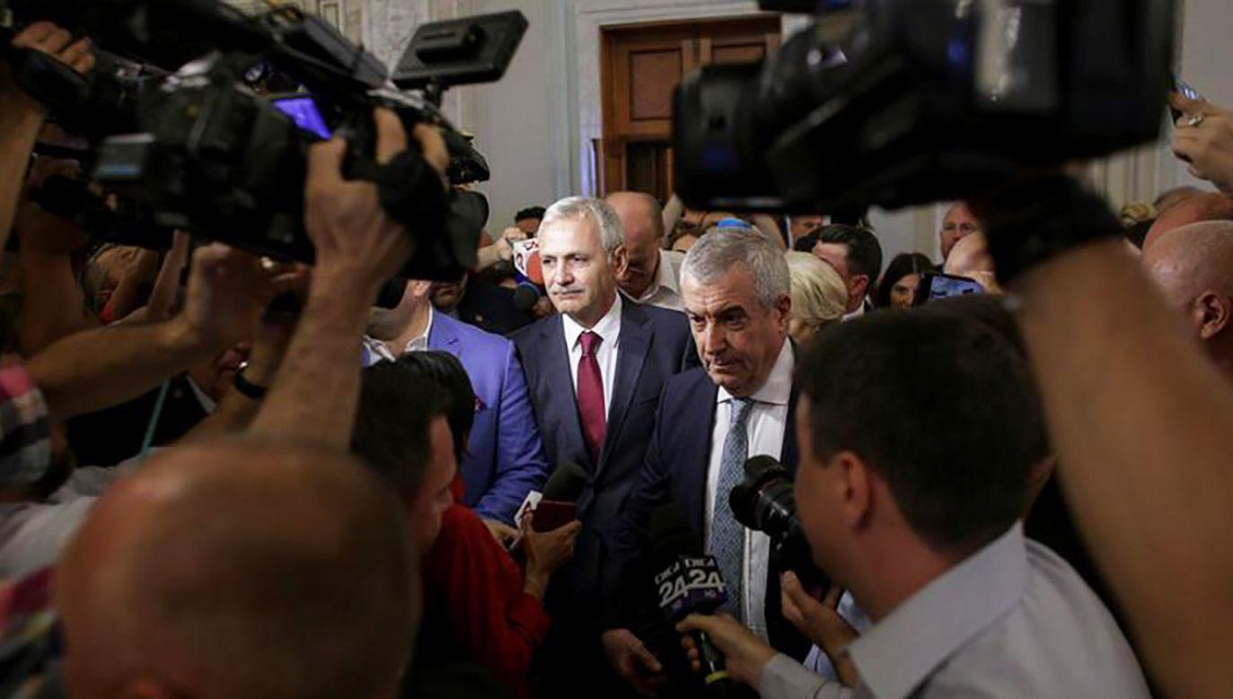 Lider rumuńskiej Partii Socjaldemokratycznej Liviu Dragnea (fot. REUTERS/Octav Ganea)