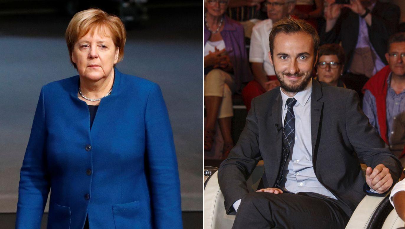 """Merkel skrytykowała wiersz satyryka, uznając, że był """"świadomie raniący"""" (fot. REUTERS/Fabrizio Bensch/Morris Mac Matzen)"""